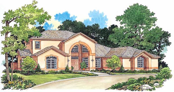 Mediterranean House Plan 99290 Elevation