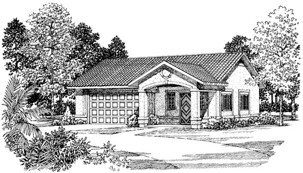 2 Car Garage Plan 99293 Elevation