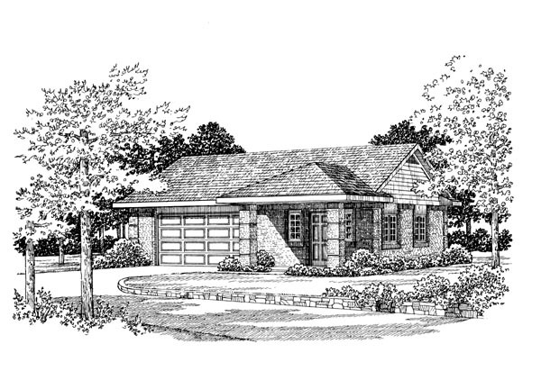 Garage Plan 99295 Elevation