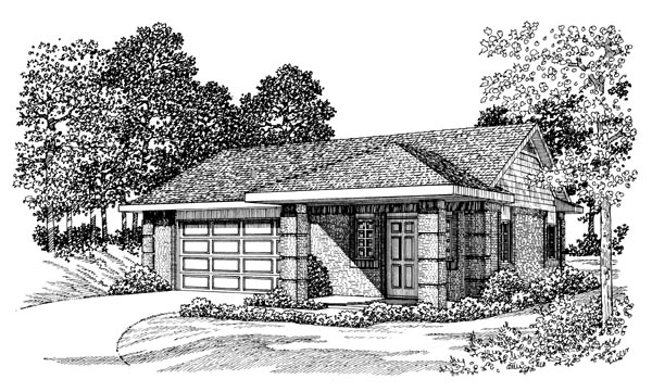 Garage Plan 99299 Elevation