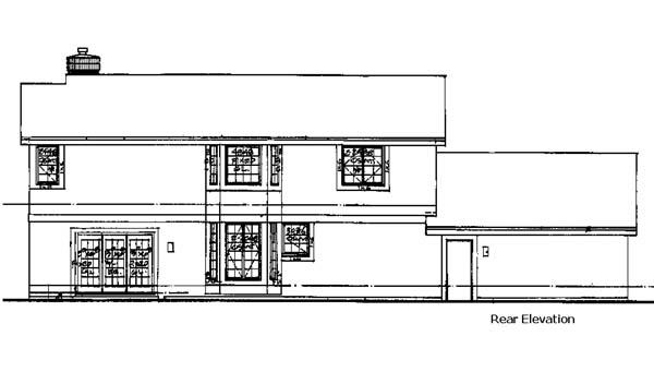 House Plan 99301 Rear Elevation