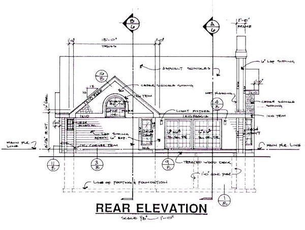 Bungalow Craftsman House Plan 99303 Rear Elevation