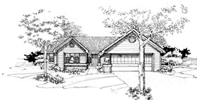 Ranch House Plan 99308 Elevation