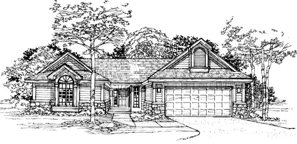 Ranch House Plan 99309 Elevation