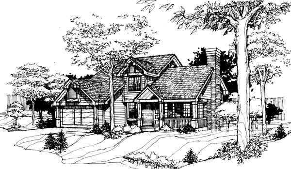 House Plan 99310 | Country Style Plan with 1957 Sq Ft, 2 Bedrooms, 3 Bathrooms Elevation