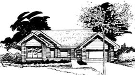 Ranch House Plan 99311 Elevation