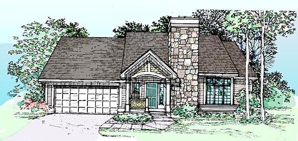 Bungalow, Craftsman House Plan 99317 with 3 Beds, 3 Baths Elevation