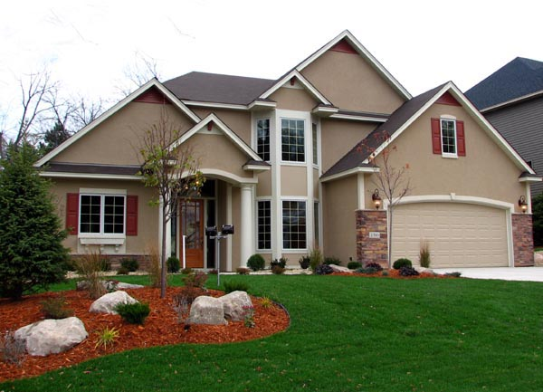 Cottage, Craftsman, Traditional House Plan 99322 with 3 Beds, 3 Baths, 2 Car Garage Front Elevation