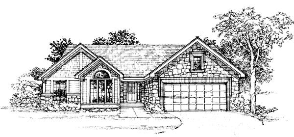 Bungalow Ranch House Plan 99329 Elevation