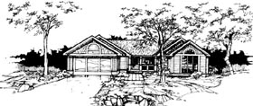 Ranch House Plan 99333 with 2 Beds, 2 Baths, 2 Car Garage Elevation