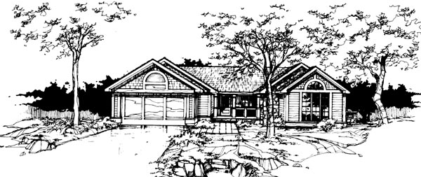 Ranch House Plan 99333 Elevation