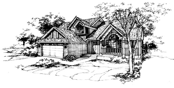 Traditional House Plan 99335 Elevation
