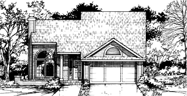 European House Plan 99339 Elevation