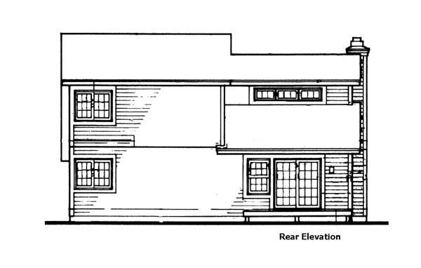 European House Plan 99339 Rear Elevation