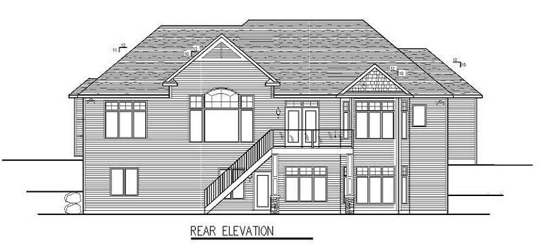 Cottage Craftsman Traditional House Plan 99340 Rear Elevation