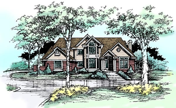 Traditional House Plan 99341 Elevation