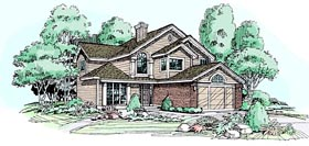 Traditional House Plan 99344 Elevation
