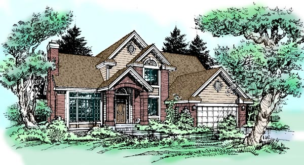 Traditional House Plan 99346 Elevation