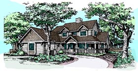 Country House Plan 99348 with 4 Beds, 3 Baths Elevation