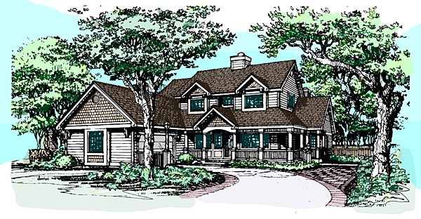 Country House Plan 99348 Elevation