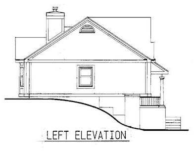 Country, One-Story House Plan 99349 with 3 Beds, 2 Baths Picture 1