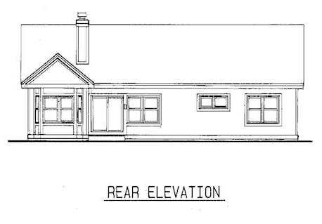 Country House Plan 99349 Rear Elevation