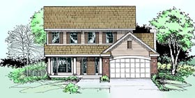 House Plan 99350 | Style Plan with 1790 Sq Ft, 4 Bed, 3 Bath, 2 Car Garage Elevation