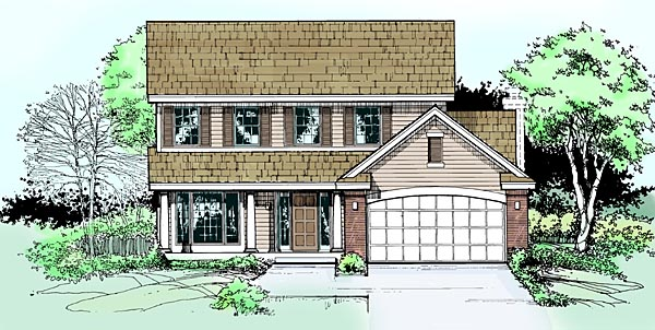 House Plan 99350 Elevation