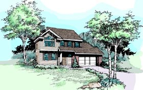 Country House Plan 99351 Elevation