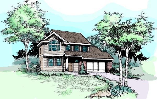 House Plan 99351 | Country Style House Plan with 1820 Sq Ft, 4 Bed, 3 Bath Elevation