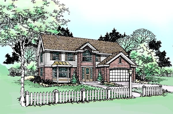 Ranch Traditional House Plan 99352 Elevation