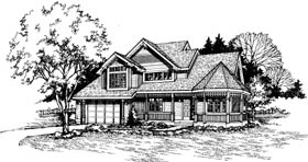 Farmhouse Victorian House Plan 99355 Elevation