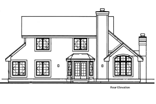 Traditional House Plan 99358 Rear Elevation