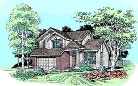 Contemporary Traditional House Plan 99359 Elevation