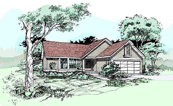 Ranch House Plan 99361 Elevation
