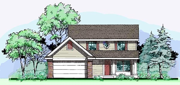 Country House Plan 99362 with 3 Beds, 3 Baths, 2 Car Garage Front Elevation