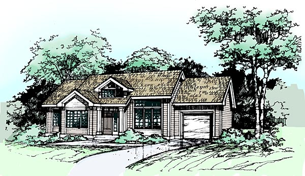Ranch House Plan 99364 Elevation