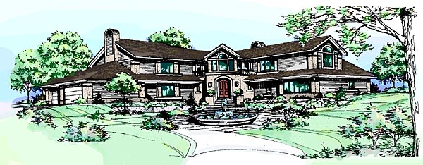 House Plan 99366 Elevation