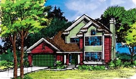 House Plan 99371 | Country Style Plan with 1709 Sq Ft, 3 Bedrooms, 3 Bathrooms, 2 Car Garage Elevation