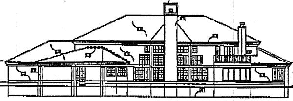 Colonial Mediterranean House Plan 99373 Rear Elevation