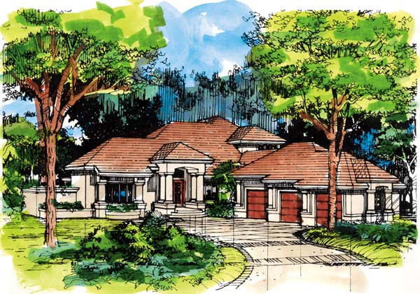 Mediterranean House Plan 99374 Elevation