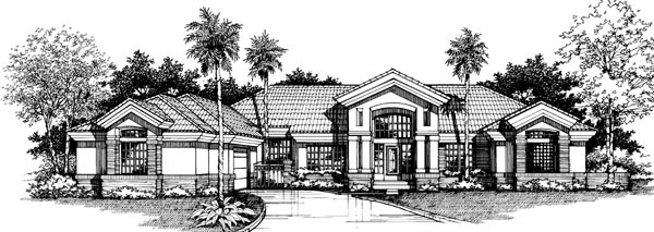 Mediterranean House Plan 99375 Elevation
