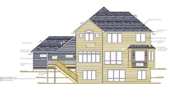 Cottage Craftsman Traditional House Plan 99377 Rear Elevation