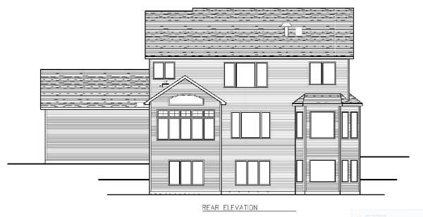 Cottage Craftsman Traditional House Plan 99381 Rear Elevation