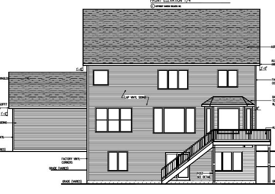 Cottage Craftsman Traditional House Plan 99384 Rear Elevation