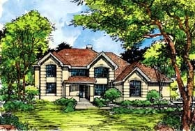 Traditional House Plan 99385 Elevation