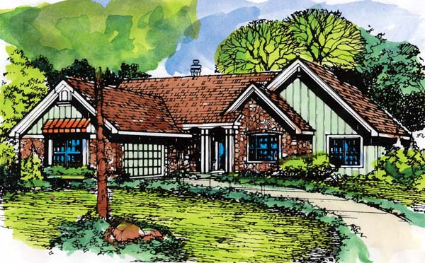 Ranch House Plan 99389 Elevation