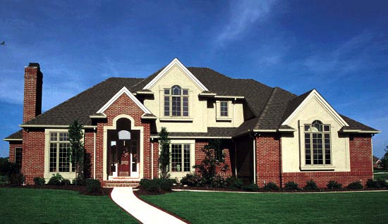 European House Plan 99400 Elevation