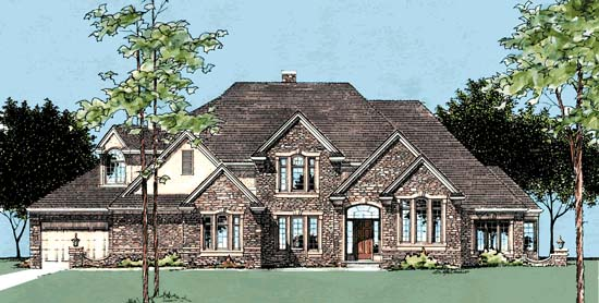European House Plan 99402 Elevation