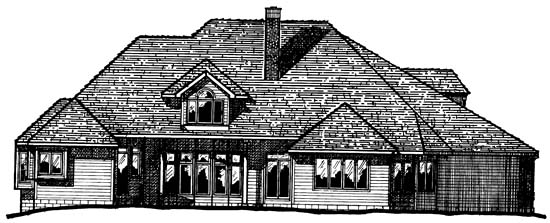 European House Plan 99402 Rear Elevation
